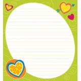 Bright Hearts Shaped Notepad