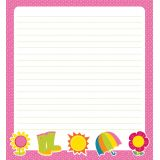 Hello Spring Shaped Notepad