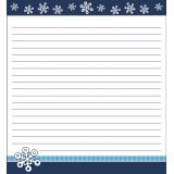 Snowflakes Shaped Notepad