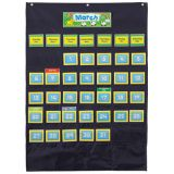 Deluxe Calendar Pocket Chart, Black