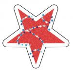 Star-Spangled Shape Stickers