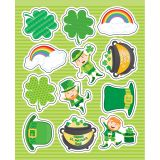 St. Patrick's Day Shape Stickers
