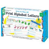Write On/Wipe Off Cards: Print Alphabet Letters