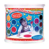 Jumbo Circular Washable Stamp Pad, Classroom Kit, Includes 10 Colors