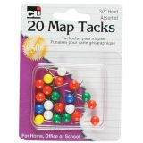 Map Tacks, Pack of 20