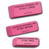 Synthetic Wedge Pink Erasers, Large, Box of 12
