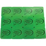 Magnetic Whiteboard Eraser, Lime, 2 x 2