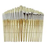 Wood Brushes, Set of 24