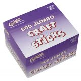 Jumbo Craft Sticks, Bright Hues, 100 pieces