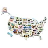 WonderFoam® Giant USA Photo Puzzle Map