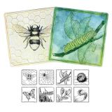 Embossed Paper Insect Collection