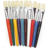 Round Handle Stubby Brushes, Set of 6