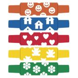 WonderFoam® Pattern Rollers: Happy Faces, Houses, Hearts, Teddy Bears, Flowers