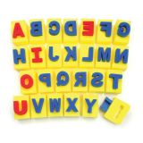 Paint Handle Sponges, Capital Letters, 26 designs