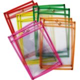 Reusable Dry Erase Pockets, Neon, 2 each of 5 colors