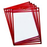 Reusable Dry Erase Pockets, Fluorescent Red, Pack of 10