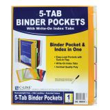 C-Line® Binder Pockets with Write-On Tabs