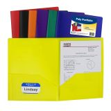 C-Line® Two-Pocket Poly Portfolios, Without prongs, Assorted, Box of 36
