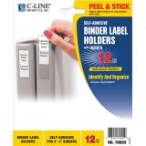 C-Line® Self-Adhesive Binder Labels, 2 5/16 x 3 5/8 (2-3 Binders)