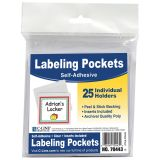 C-Line® Self-Adhesive Labeling Pockets
