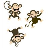 Designer Cut-Outs, Monkeys, 10