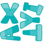 Designer Letters, Painted Palette Turquoise, 4