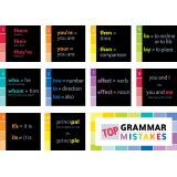 Painted Palette Top Grammar Mistakes Mini Bulletin Board Set