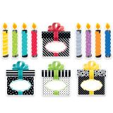Bold & Bright Birthday Party 6 Designer Cut-Outs
