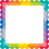 Designer Cut-Outs, Painted Palette Rainbow Chart Cards, 10