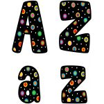 Designer Letters, Dots on Black