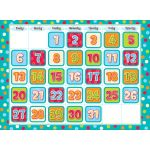 Dots on Turquoise Calendar Set