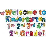 Welcome Kindergarten, 1st, 2nd, 3rd, 4th, 5th Grade Poppin' Patterns Punch-Out Phrases