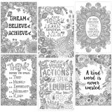 Color-Me Inspire U™ Posters, Set of 6
