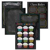 Chalk It Up! Classroom Essentials Charts, 5-chart pack