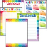 Painted Palette Classroom Essentials Chart Set