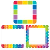 Painted Palette Rainbow Cards 6 Designer Cut-Outs