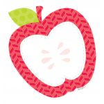 Designer Cut-Outs, Poppy Red Apples, 6