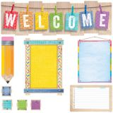 Upcycle Style Welcome Bulletin Board Set