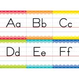 Painted Palette Traditional Manuscript Alphabet Bulletin Board Set