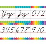 Painted Palette Cursive Handwriting Alphabet Bulletin Board Set