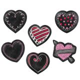 Designer Cut-Outs, Chalk Hearts, 3