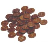 Plastic Coins, 100 pennies