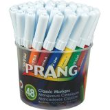 Prang® Art Markers, Classic Class Pack, 4 each of 12 colors