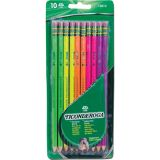 Ticonderoga® Premium Neon Wood Pencils, Pack of 10