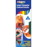 Prang® Large Triangular Colored Pencils, 12 color set