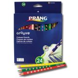 Prang® Groove Colored Pencils, 24 count