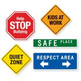 School Signs Magnet Set
