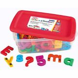 Jumbo Multi-Colored AlphaMagnets & MathMagnets