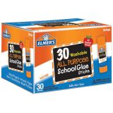 Elmer's® Washable School Glue Sticks, All Purpose, 30-pack