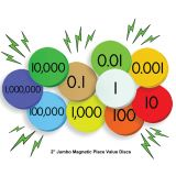 Sensational Math™ Jumbo Magnetic Place Value Demonstration Discs, 10-Value